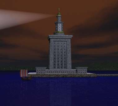 The Seven Wonders - Lighthouse at Alexandria